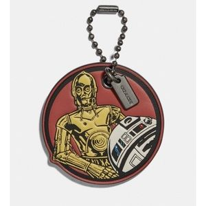 NWT Coach X Star Wars C3PO & R2 D2 Hang Tag
